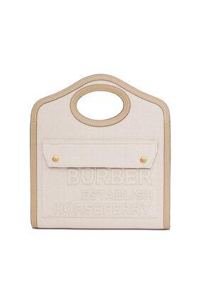 Mini Horseferry Linen Cotton Canvas Pocket Bag