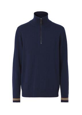 Icon Stripe Cuff Funnel Neck Sweater