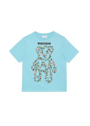 Montage Print Cotton T-shirt, , hi-res