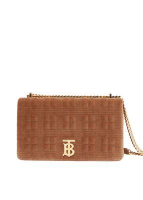 Medium Quilted Velvet Lola Bag