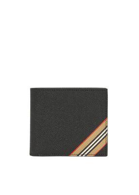 Icon Stripe Leather International Bifold Coin Wallet