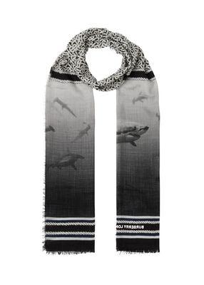 Montage Print Silk Wool Scarf