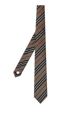 Classic Cut Icon Stripe Silk Tie, , hi-res