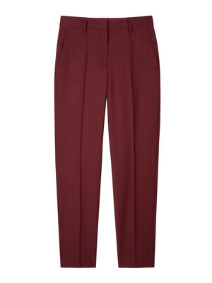 A Suit To Travel In - Women's Classic-Fit Burgundy Wool Trousers