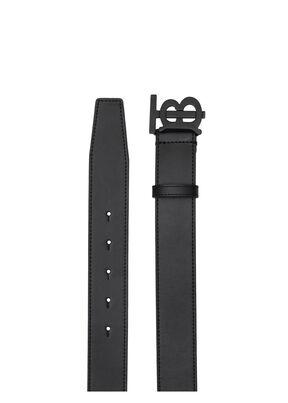 Matte Monogram Motif Leather Belt, , hi-res