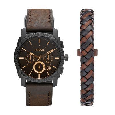 Gt Watch Machine Black Brown Leather, , hi-res