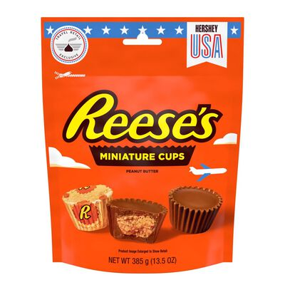 Milk Chocolate Peanut Butter Cups Miniatures Candy Pouch