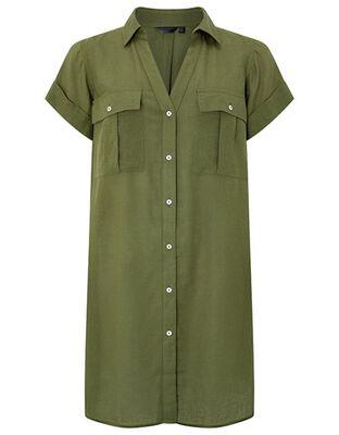 """Beach Shirt Dress in LENZINGâ""""¢ ECOVEROâ""""¢"""