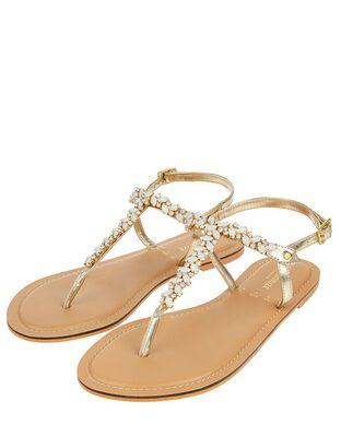 Petra Frosted Gem Sandals