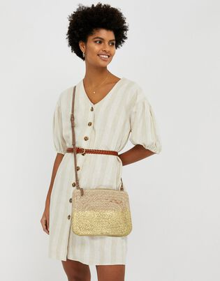 Sarah Metallic Rope Cross-Body Bag, , hi-res