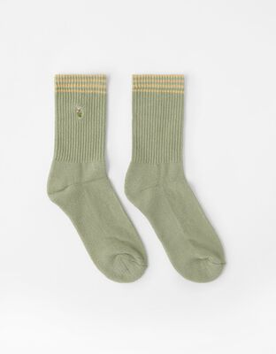 Embroidered Flower Socks