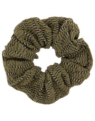 Metallic Thread Hair Scrunchie