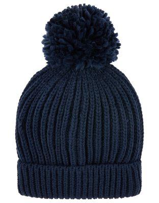 Chunky Knit Pom-Pom Beanie Hat