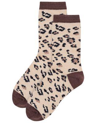 Mia Leopard Thermal Boot Socks