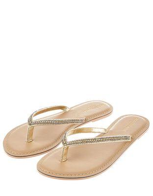 Daniella Diamante Flip Flops