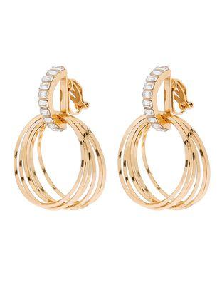Baguette Gem Clip-On Drop Earrings