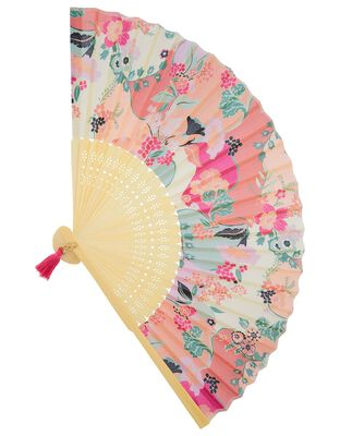 Floral Fan with Tassel Charm
