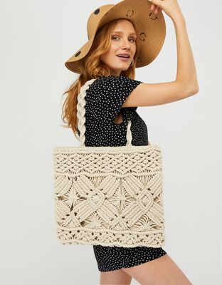 Macrame Shopper Bag