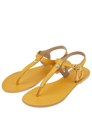 Seashell Charm Leather Sandals, , hi-res