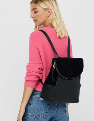 Isabel Zip Flap Leather Backpack