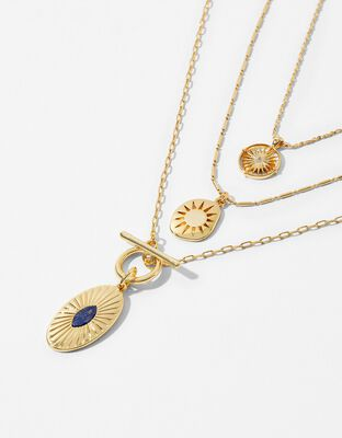 Gold-Plated Charmy Layered Necklace
