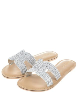 Bella Metallic Beaded Slider