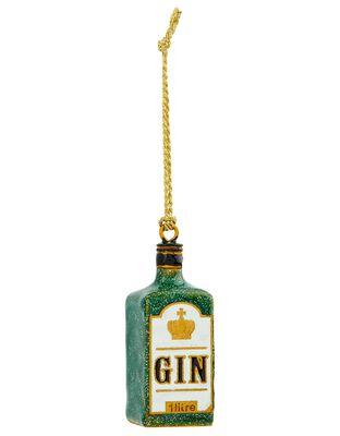 London Gin Bottle Hanging Decoration