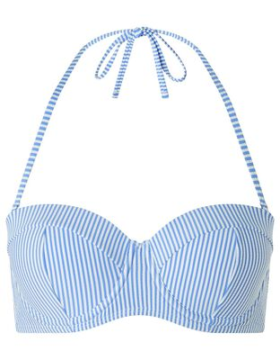 Stripe Moulded Cup Bikini Top