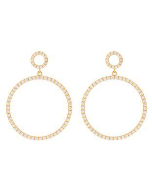 Diamante Hoop Doorknocker Earrings