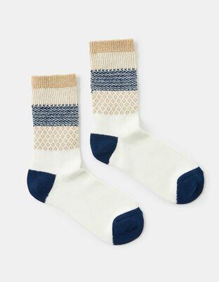 Sparkle Fair Isle Thermal Boot Socks