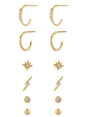 Gold-Plated Sparkle Stud Earring Multipack
