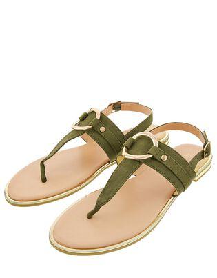 Ring Detail Sandals, , hi-res