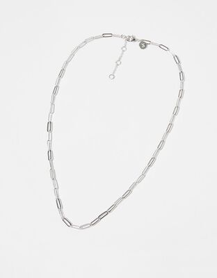 Platinum-Plated Paperclip Chain Necklace