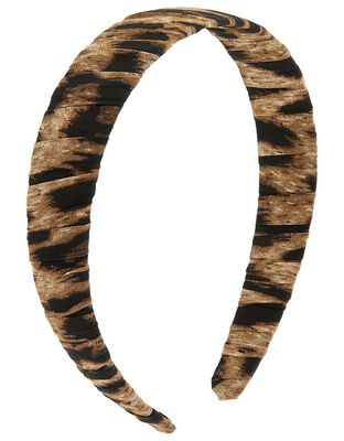 Ruched Leopard Headband