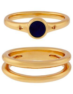 Lapis Stacking Ring Set