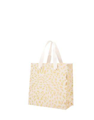 Small Gold Foil Print Gift Bag, , hi-res