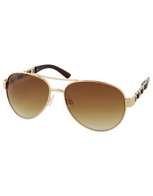 Anna Chain Detail Aviator Sunglasses