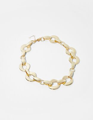 Gold-Plated Chunky Chain Necklace
