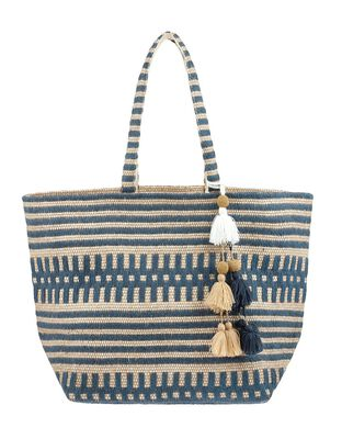 Willow Woven Beach Tote Bag