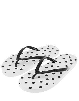 EVA Polka Dot Print Flip Flops, , hi-res