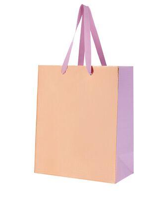 Medium Metallic Gift Bag with Bow, , hi-res