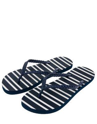 Nautical Stripe EVA Flip Flops, , hi-res