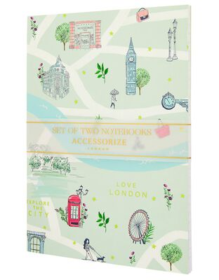 2x London Printed Notebooks