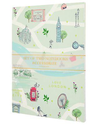 2x London Printed Notebooks, , hi-res
