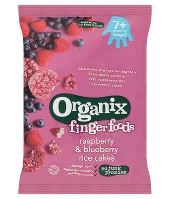 Organix FF Rasp & Blue Rice Cakes Stg2