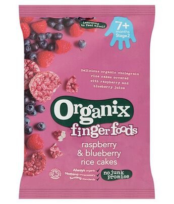 Organix FF Rasp & Blue Rice Cakes Stg2, , hi-res