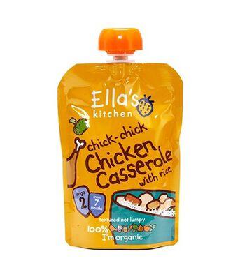 Ellas Chicken Cass w/Rice Pouch Stg2