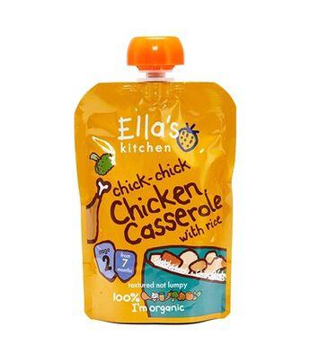 Ellas Chicken Cass w/Rice Pouch Stg2, , hi-res