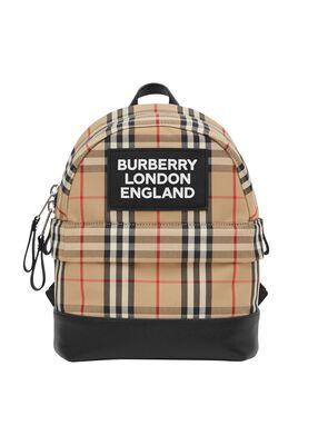 Logo Appliqué Vintage Check Backpack