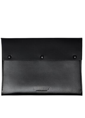 Large Suede and Leather Envelope Pouch